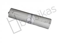 Bolsa de basura 70x80 blanca especial para papeleras de 55 litros. Baja densidad. Uso indicado en sector como: Hostelería, limpieza, industria, lavanderías, jardinería y hospitalario. Peso rollo: 580 grs (+/-) Caja de 25 rollos de 25 bolsas.