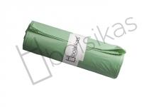 Bolsa de basura 110x140 verde industrial especial para contenedores para cubos de 240 litros. Alta densidad. Uso indicado en sector como: Hostelería, limpieza, industria, lavanderías, jardinería y hospitalario. Peso rollo: 850 grs (+/-) Caja de 15 rollos de 10 bolsas.