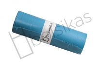Bolsa de basura 95x115 azul industrial medida especial para cubos de 120 litros. Alta densidad. Uso indicado en sector como: Hostelería, limpieza, industria, lavanderías y hospitalario.  Peso rollo: 710 grs (+/-); Caja de 20 rollos de 10 bolsas.