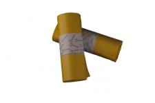 Bolsa de basura  85x100 AD,amarilla, industrial para cubos de 100 litros. Uso indicado en sector como: Hostelería, limpieza, industria, lavanderías, jardinería y hospitalario. Peso rollo: 320 grs (+/-) Caja de 40 rollos de 10 bolsas.