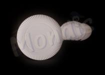Plato de cartón blanco de 25 cm especial para blondas rodal. Caja con 5 paquetes de 100 platos. Paquete de 100 Platos.