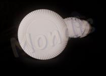 Plato de cartón blanco de 30 cm especial para blondas rodal. Caja con 4 paquetes de 100 platos. Paquete de 100 Platos.