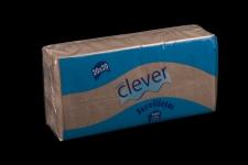 Servilleta natural 20x20 microgofrada de 2 capas. Tamaño especial para desayunos, meriendas, posavasos, cóctel, ect Caja de 28 paquetes de 100 servilletas.