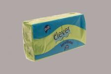 Servilleta de color verde pistacho 20x20 de 2 capas, en calidad tissue microgofrada. Indicada para desayunos, meriendas, posavasos, cóctel,etc. Caja de 28 paquetes de 100 servilletas.