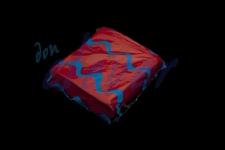 Servilleta para comedor de color rojo 40x40 de 2 capas, calidad tissue. Caja de 16 paquetes de 50 servilletas.