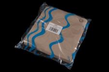 Servilleta para comedor natural gofrada 40x40 de 2 capas. Caja de 16 paquetes de 50 servilletas.